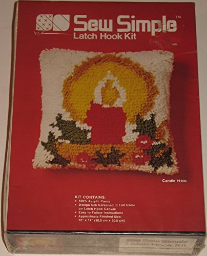 Vintage Sew Simple Candle Latch Hook Kit by Sew Simple