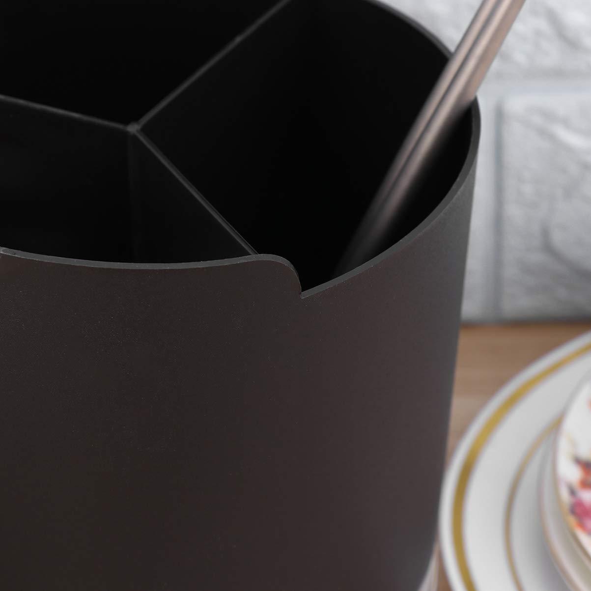 UPKOCH soporte para cubiertos de utensilios carrito organizador de utensilios de cocina pajitas de 3 compartimientos dispensador palillos soporte vajilla escurridor cubiertos cubiertos negro