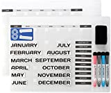 """#1: Magnetic Dry Erase Board Calendars: Whiteboard 12 Month Calendar Organizer & Planner for Fridge or Office Wall - Plan Weekly Schedule & Family Chores - With Two 16""""x12"""" Boards, Markers & Task Magnets"""