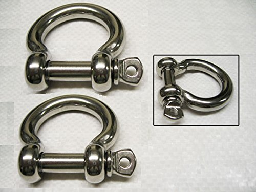 Secure Fix Direct X2 5mm Bow Shackles With Screw Collar Pins 316 Stainless Steel - A4 Rigging SecureFix Direct
