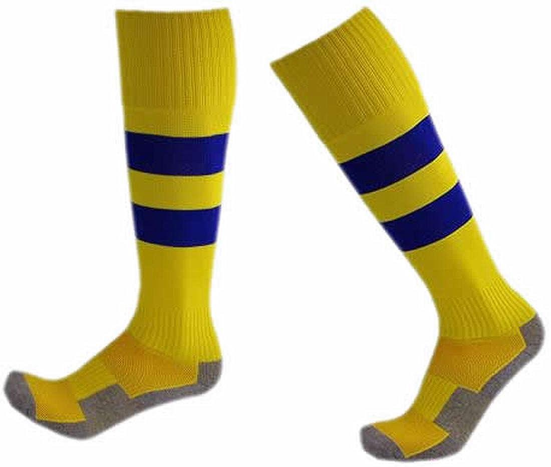 KXP Kids Boys Girls Hiking Socks Football Running Camping Trail Cushion Walking Socks Yellow S