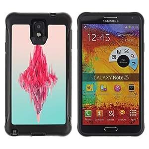 Paccase / Suave TPU GEL Caso Carcasa de Protección Funda para - Iceberg Pink Ocean Neon Art Deep Blue - Samsung Note 3