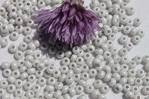 - 6/0 Czech Seed Bead Terra Pearl Opaque Soft Gray /1oz. Perfect for Earrings, Necklaces or Bracelets.