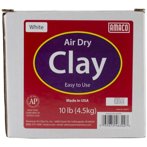 Price comparison product image AMACO Air Dry Modeling Clay, 10-Pound, White