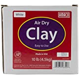 Amaco Air Dry Modeling Clay, 10-Pound, White - 4630-2B