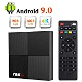 Android 9.0 TV Box, T95 Mini Android Box 2GB RAM 16GB ROM H6 Quadcore Smart TV Box 2.4GHz WiFi 3D 6K Streaming Media Player