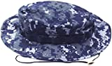 Mil Issue Nwu Usn Navy Blue Digital Camouflage Boonie Hat By Govt Contractor