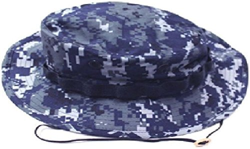 - Mil Issue Nwu Usn Navy Blue Digital Camouflage Boonie Hat By Govt Contractor