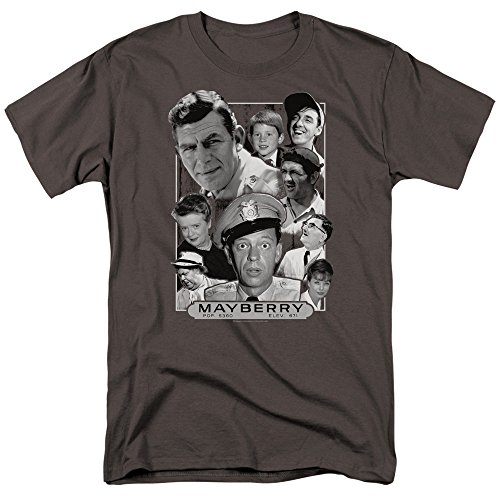 Trevco Andy Griffith Mayberry Unisex Adult T Shirt For Men and Women (Small)