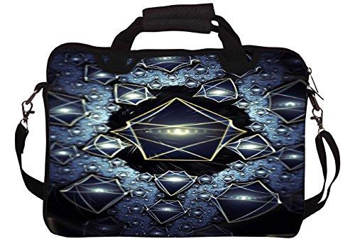 Snoogg Translucent Quader 2724 Gedruckt Notebook-Tasche mit Schultergurt 15 bis 15,6 Zoll