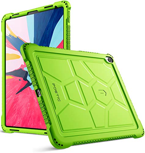 iPad Pro 12.9 inch (3rd Gen) Case, Poetic TurtleSkin Series [Corner Protection][Not Supported Apple Pencil Magnetic Attachment] Protective Silicone Case for Apple iPad Pro 12.9 Inch (2018) - Green