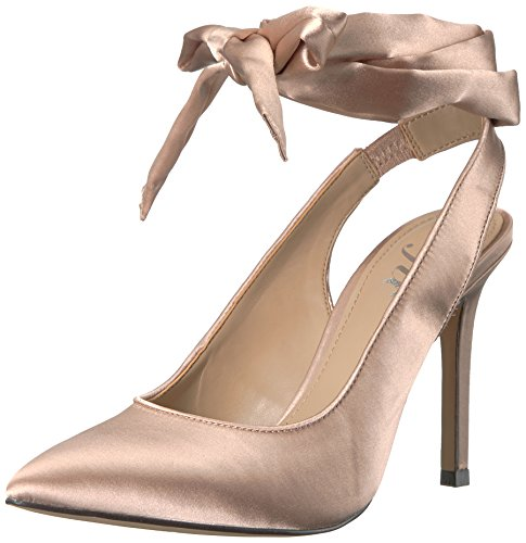 ian Sling Back Pointed Toe Lace-up Pump, Petal Blush Satin, 10 B US ()