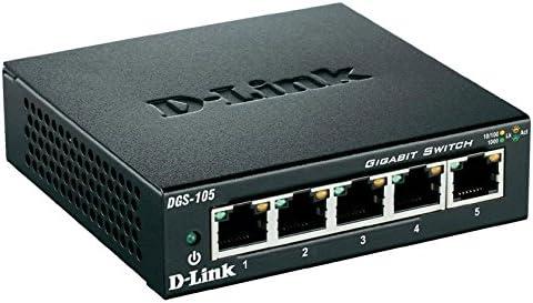 143789 5 x 10//100//1000Base-T D-Link 5-Port Desktop Switch