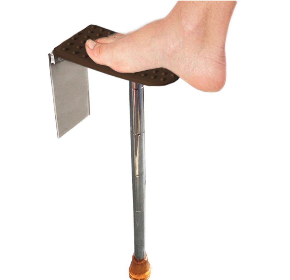 Shower Foot Rest Shower Shaving Stand Portable Adjustable Bathroom Shower  Shaving Step Chocolate Color