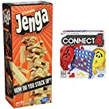 Jenga Classic Game and Connect 4 Game Bundle