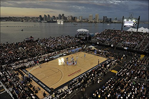 24x36 Poster; Michigan State University And The University Of North Carolina Basketball Game On The Flight Deck Of The Aircraft Carrier Uss Carl Vinson