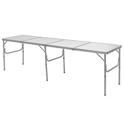 Exceptionnel Giantex 8FT Portable Aluminum Folding Table Carrying Handle Picnic Indoor  Outdoor Camping