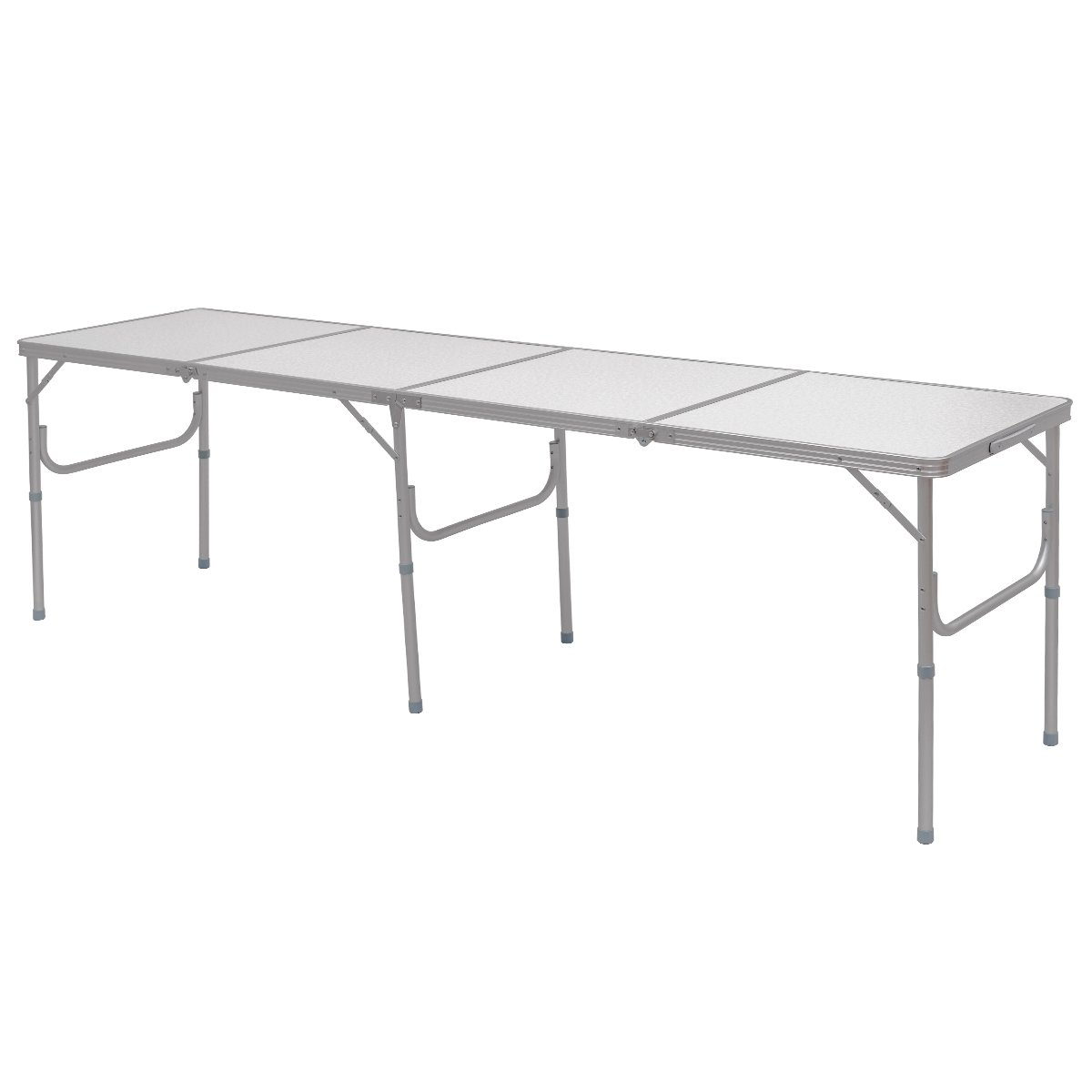 Giantex 8FT Portable Aluminum Folding Table Carrying Handle Picnic Indoor Outdoor Camping
