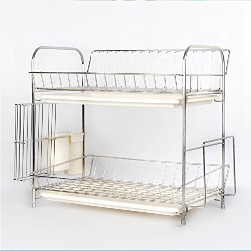 OUMYJIA Dish Rack Dish Drying Rack - 304 Stainless Steel - 2