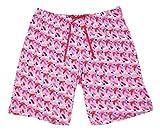 HUE Plus Size House-Print Bermuda Pajama Shorts (Bright Pink, 1X)
