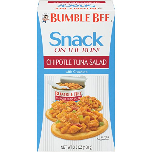 BUMBLE BEE Snack On The Run Chipotle Tuna Salad with Crackers Kit 35 ox pack of 12