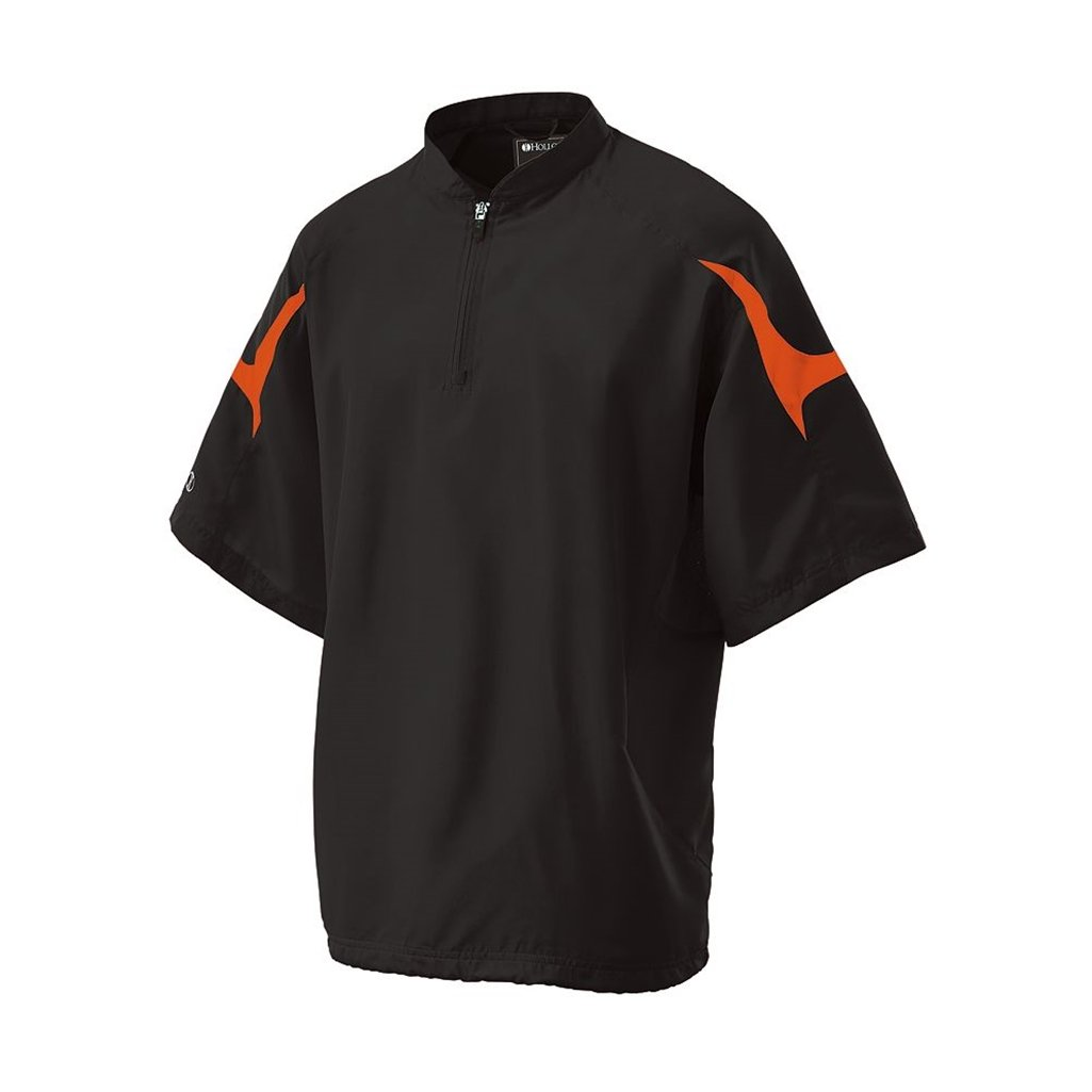 Holloway Adult Dry Excel Equalizer Pullover (Small, Black/Orange)