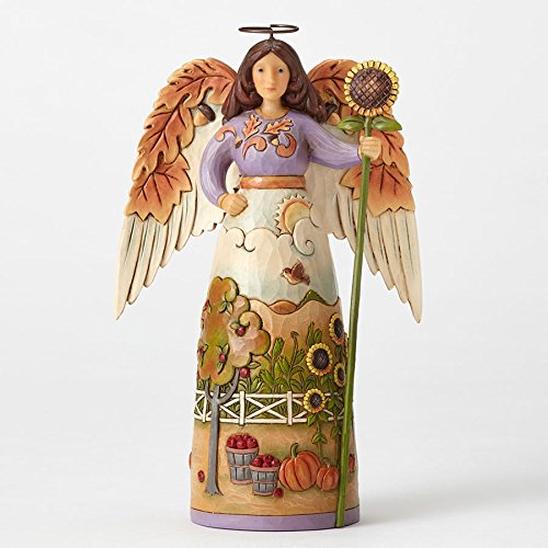 Jim Shore HWC Thankful For This Day Autumn Leaf Angel Figurine