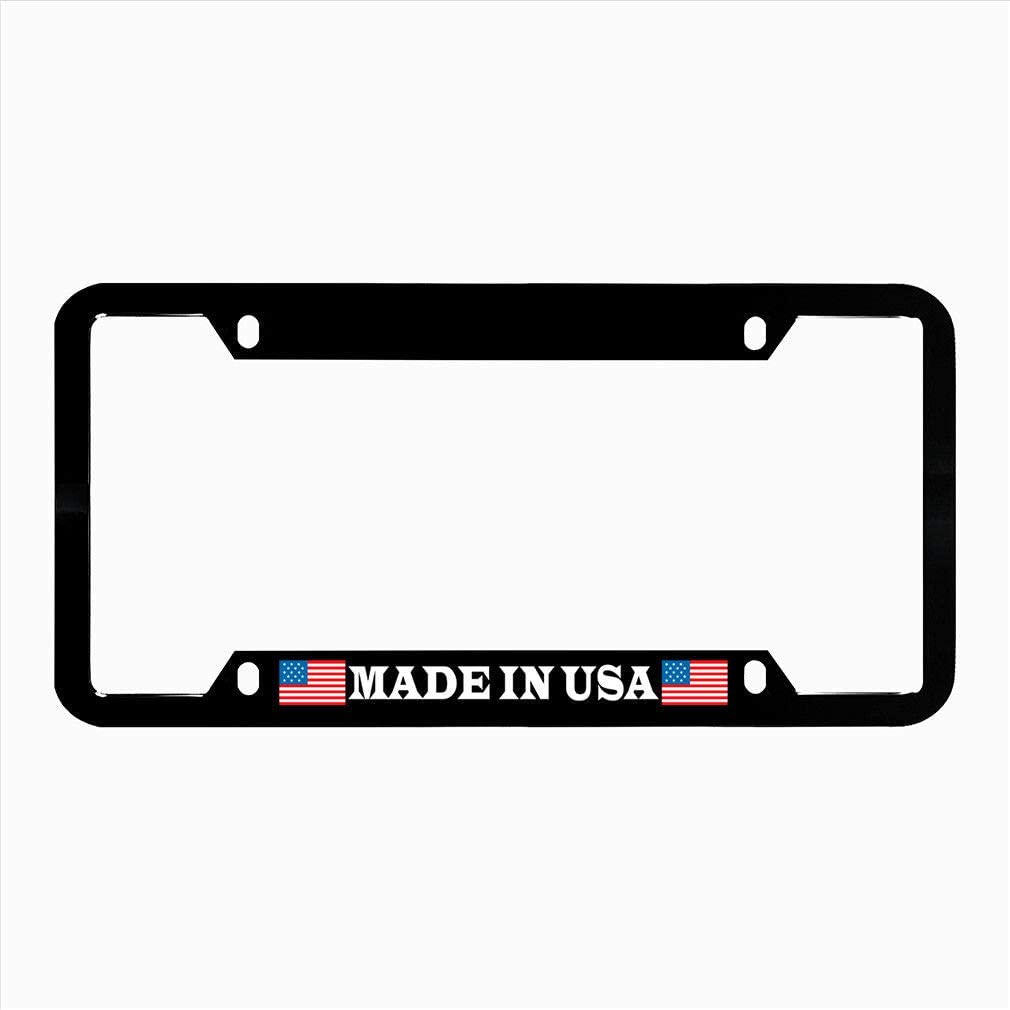 Universal License Plate Frame for Women//Men Custom 4 Holes Aluminum Metal License Plate Holder,Auto Car Tag for US Standard