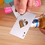 Poker Shaped Beer Bottle Opener Credit Cards Size For Wallet Bar