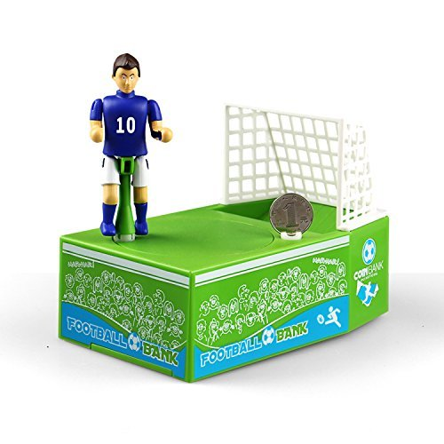 Just us Soccer Shooting Coin Bank Football Palyer Bank Mechanical Money Saving Bank (Coin Football)