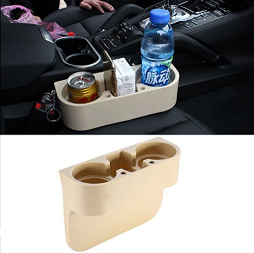 Vehicle Drink Cup Holder, Truck Car Seat Wedge Cup Holder Valet Beverage Can Bottle Cell Phone Stand Storage Box Yosoo