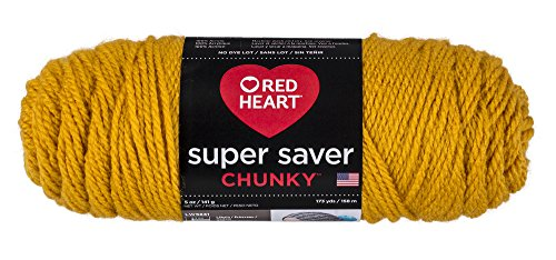 Red Heart Super Saver Chunky, Goldenrod Yarn, (Soft Mustard Yarn)
