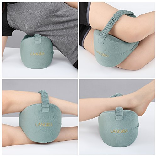 LANGRIA Knee Pillow Memory Foam Leg Pillow with...