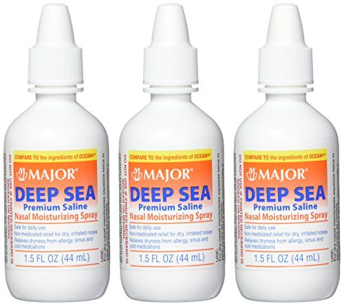 Major Pharmaceuticals Deep Sea Generic for Ocean Nasal Moisturizing Spray 1.5 oz, 3 - Nasal Moisture Spray