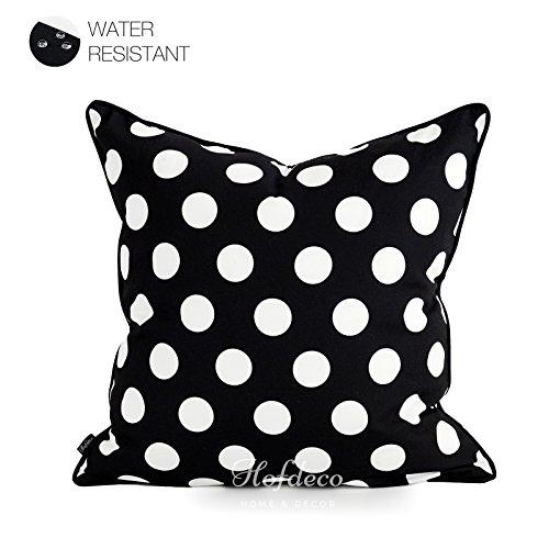 Hofdeco Decorative Throw Pillow Cover INDOOR OUTDOOR WATER RESISTANT Canvas Modern Black Dots 18''x18'' by Hofdeco (Image #1)