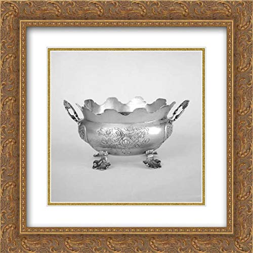 German Brunswick (Braunschweig) Culture - 20x20 Gold Ornate Frame and Double Matted Museum Art Print - Monteith Type Oval Bowl ()