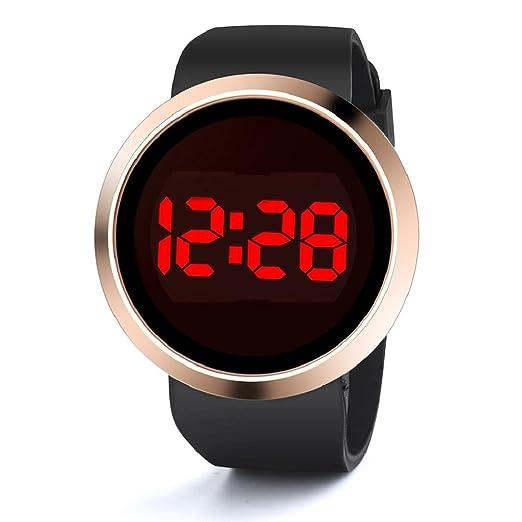 3d30d0962b Waterproof Casual Watch,Hosamtel Women Men's LED Touch Screen Day Date  Silicone Wristwatch A85