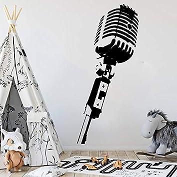Micrófono de Música Tatuajes de Pared Dormitorio Bebé Nursery ...