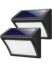 Luce Solare Esterna, Yacikos [2 Pezzi] 60 LED Lampada Solare con Sensore di Movimento Luci Solari Impermeabile 3 Modalità Lampada Solare WirelessdiSicurezza Illuminazione Esterno per Giardino