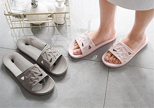 Fondo Antiscivolo Fresche Casa Donna Bagno Donne Tellw Pantofole Uomo Per Rosa Estate Spesso Da Coperta x4vB7qwnz
