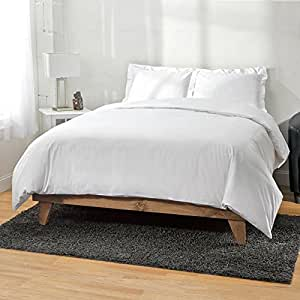 Ultra Soft Bamboo Duvet Covers by ExceptionalSheets, Full/Queen, White