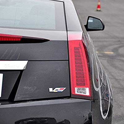 TK-KLZ for Cadillac 3D Metal High Performance Engine V Logo Car Side Fender Rear Trunk Emblem Badge Decals sticker for Cadillac SRX XTS ATS CTS CTS EXT ATS-L COUPE Hybrid ESCALADE Decoration
