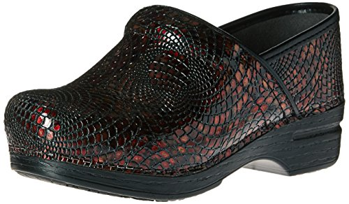 Dansko Womens Pro Xp Mule Shoe Burgundy Textured JrTzP