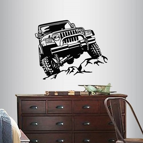 In-Style Decals Wall Vinyl Decal Home Decor Art Sticker 4x4 Off Road Jeep Car Room Removable Stylish Mural Unique Design 1312 by In-Style Decals (Image #2)