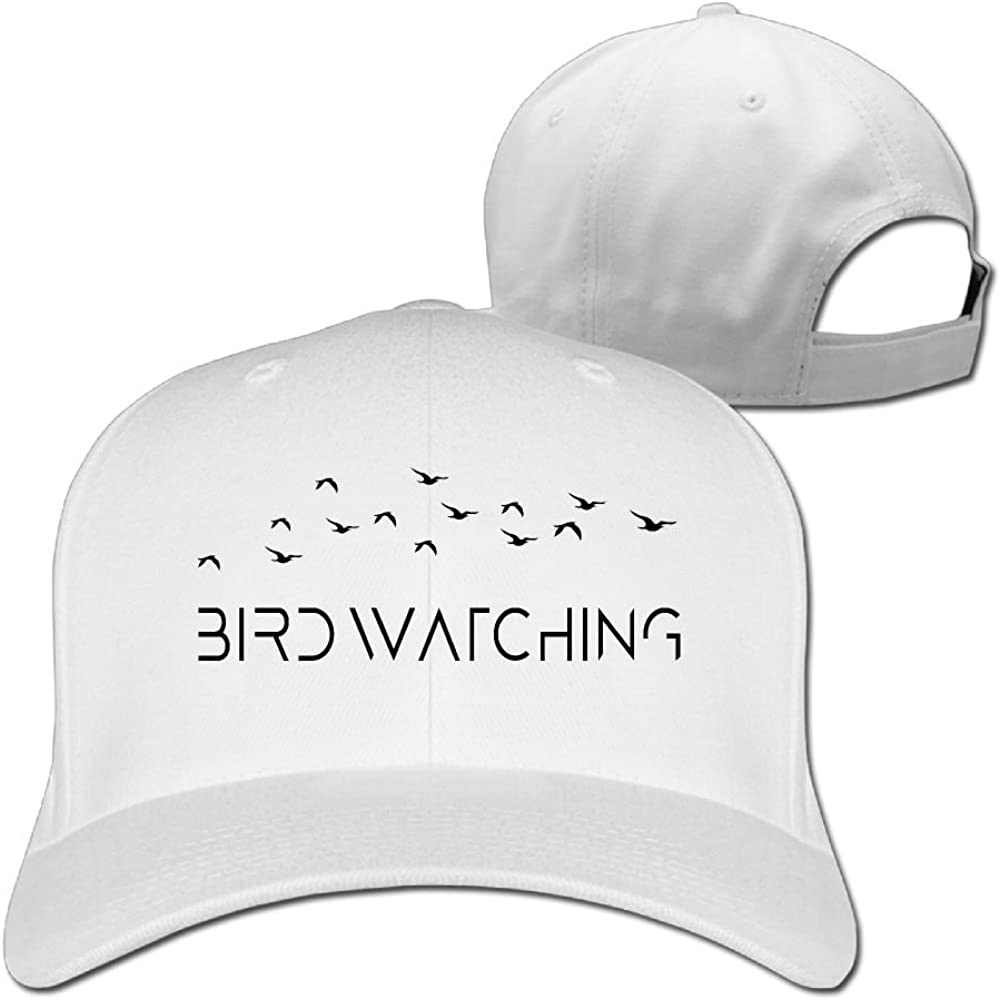 WHa12 Cap Bird Watching Girl Personality Plain Baseball Cap