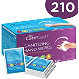 Care Touch Antibacterial Hand Sanitizer Wipes – 210 Individually Wrapped Packets
