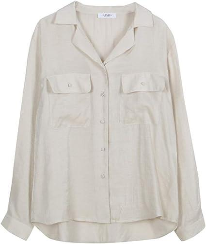 Blusa de manga larga para mujer Camisa blanca for mujer ...