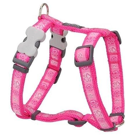 Arnés para perro Red Dingo Paw Impressions rosa caliente XLarge ...
