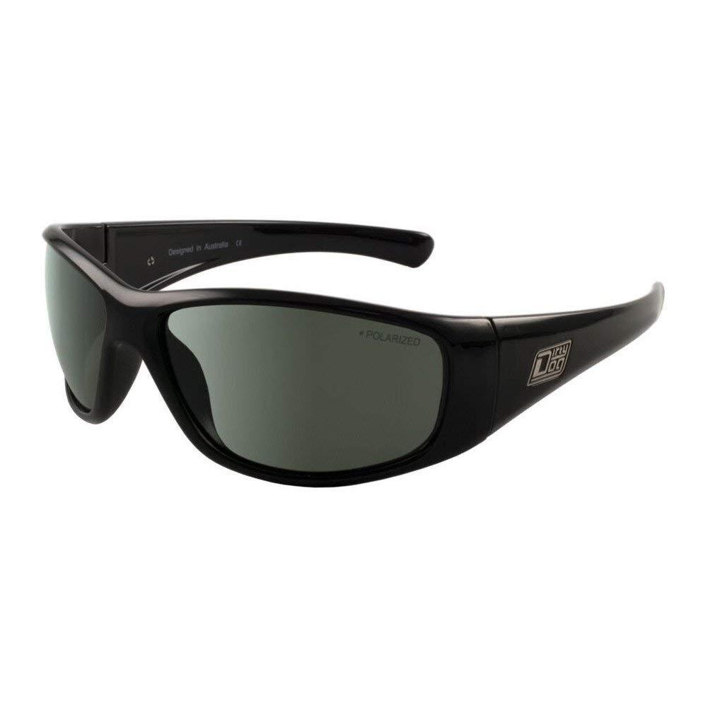 Dirty Dog 53512 Black Wolf - Gafas de Sol rectangulares (Lentes polarizadas, categoría 3), Color Negro