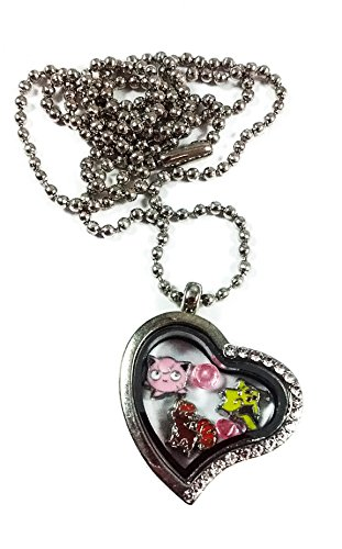 Price comparison product image The Cutest Pokemon By Living Memory Lockets for Less Charm Necklace Jiggypuff,  Pikachu,  Vulpix
